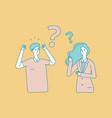 family quarrel man woman arguing business vector image vector image