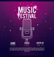 festival music flyer vector image