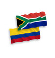 flags colombia and republic south africa on vector image