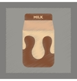 flat shading style icon carton of milk vector image vector image