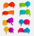 Flat Speech Bubbles with Long Shadows vector image