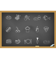 Food icon on blackboard vector image vector image