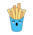 french fries fast food cute kawaii cartoon vector image vector image