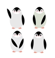 Funny penguins on white background vector image vector image