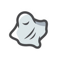 ghost scary bedsheet icon cartoon vector image