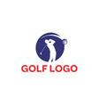 golf-logo vector image vector image