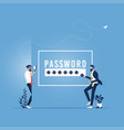 hacking account and password concept vector image