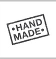 hand made - rectangle grunge stamp or insignia vector image vector image