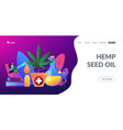hemp seed oil concept landing page vector image vector image
