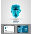 human logo design template head or robot icon vector image vector image