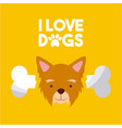 i love dog life vector image vector image