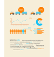 infographics business data vector image