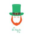 irish leprechaun with red beard vector image vector image