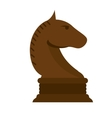 Isolated chess horse design vector image vector image