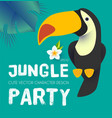 jungle patry design template with exotic bird vector image