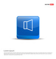 loudspeaker icon - 3d blue button vector image