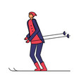 man with ski in the winter season vector image