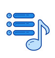 media playlist line icon vector image vector image