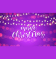 merry christmas greeting card calligraphy vector image