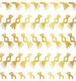 metallic gold foil birds seamless pattern vector image