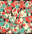 Military Camouflage Love and Peace sign vector image