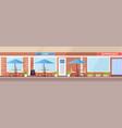 modern summer cafe shop exterior empty no people vector image vector image