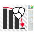 nem fall down chart flat icon with bonus vector image vector image