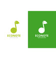 note and leaf logo combination music and vector image vector image