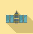 orbit satellite icon flat style vector image vector image