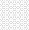 pattern of gray honeycomb vector image vector image