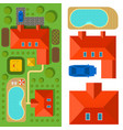 plan of private house top view vector image vector image