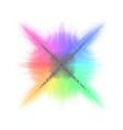 Rainbow mosaic vector image