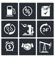 Sale of petroleum products icon set vector image vector image