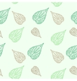 Seamless green leaves mosaic background vector image vector image