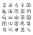 seo and web optimization line icons 3 vector image vector image