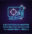 shooter game neon light icon vector image