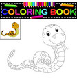 snake coloring book vector image vector image