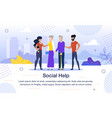 social help for aged people flat banner vector image