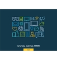 Social media integrated thin line symbols Modern vector image vector image
