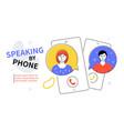 speaking phone - modern colorful flat design vector image
