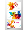 splash gift cards vector image vector image