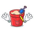 tongue out sand bucket mascot cartoon vector image vector image