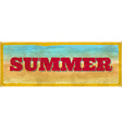 Vintage summer sign vector image vector image