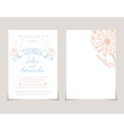 Wedding invitation card templates with hand drawn vector image vector image
