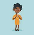young african woman breaking the cigarette vector image vector image