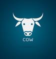 Cow head design vector image