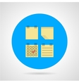 Flat icon for sticky note vector image