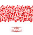 valentine floral red vector image