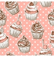 seamless pattern with cakes vector image