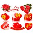 set of valentine elements vector image